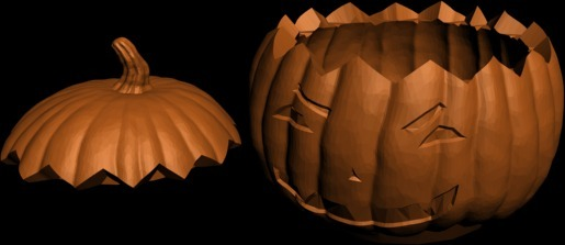 Hollow Halloween Pumpkin