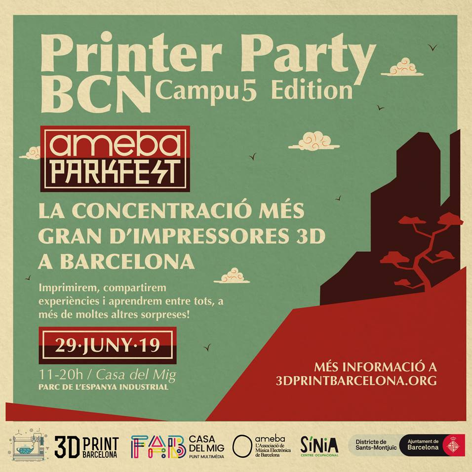Printer Party Barcelona 2019 banner